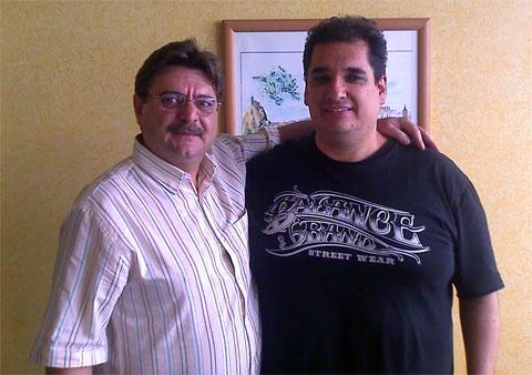 O Professor Luiz Carlos Crozera Fundador da Hipnose Condicionativa e eu